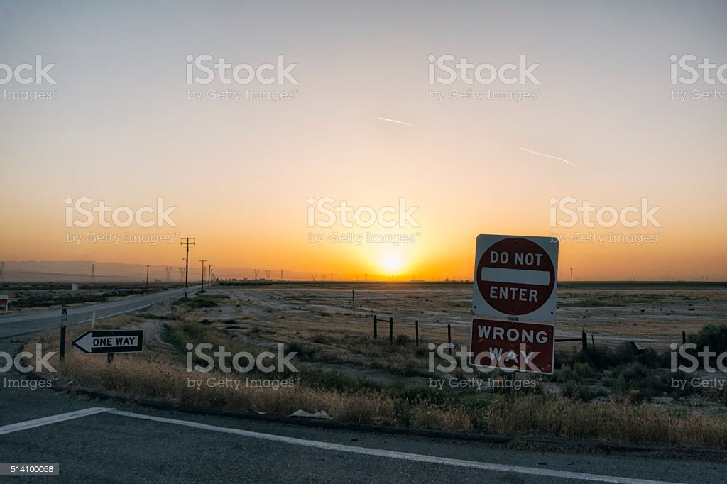 Landscape in California stock photo
