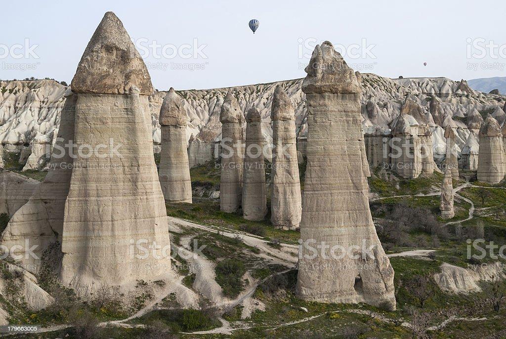 Landscape in Cappadocia, Turkey stock photo