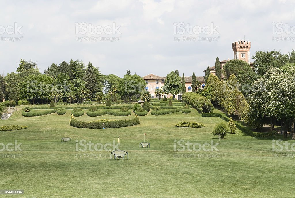 Landscape in Collio, Italy. stock photo