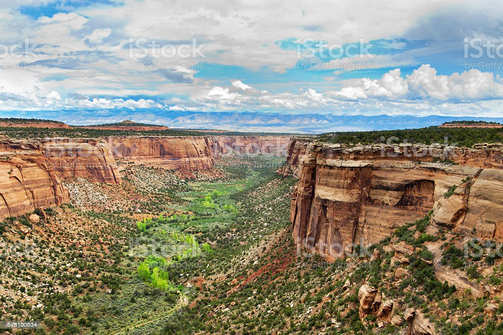 Landscape in Colorado National Monument  in USA stock photo