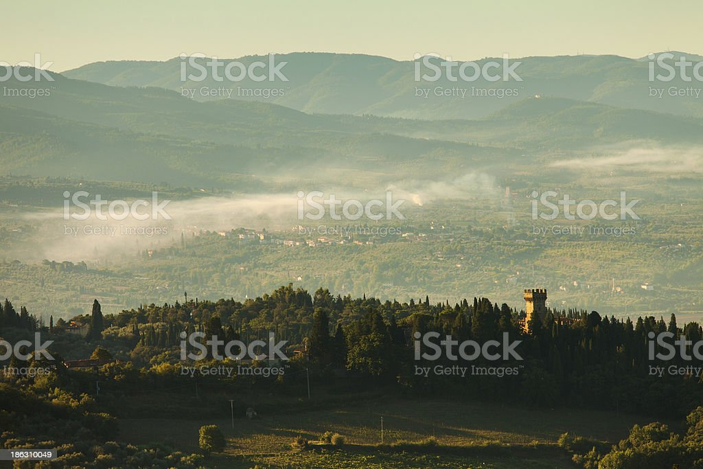 Landscape in Country side of Tuscany, Italy royalty-free stock photo