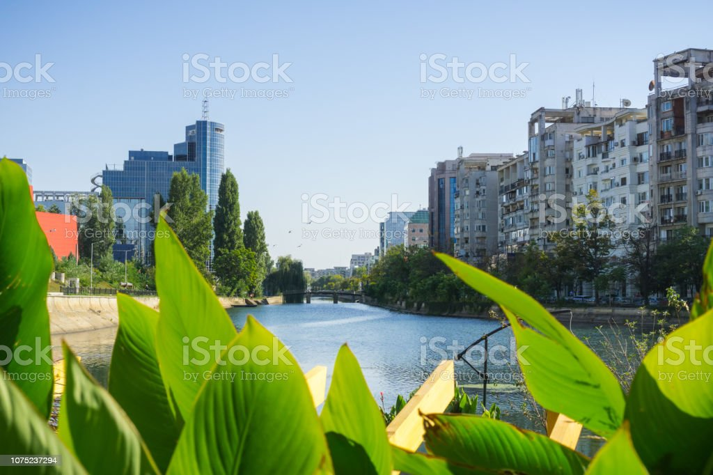 Landscape in Downtown Bucharest stock photo