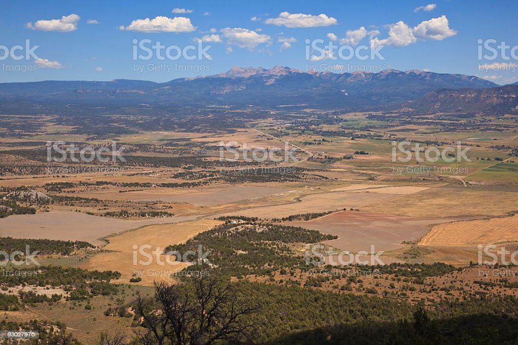 landscape in Far View Site of Mesa Verde National Park stock photo