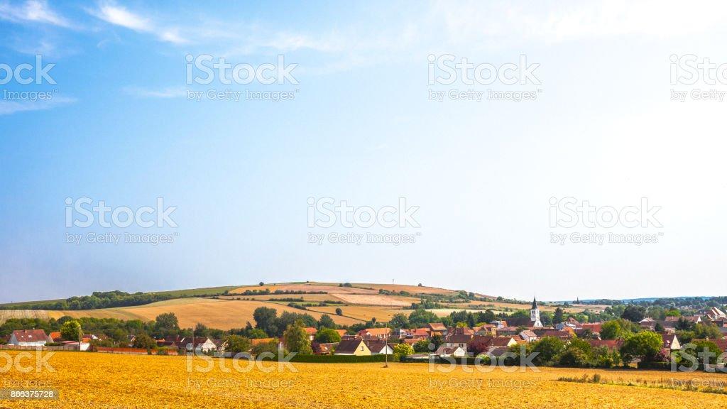 Landscape in France - Goincourt, Hauts-de-France stock photo