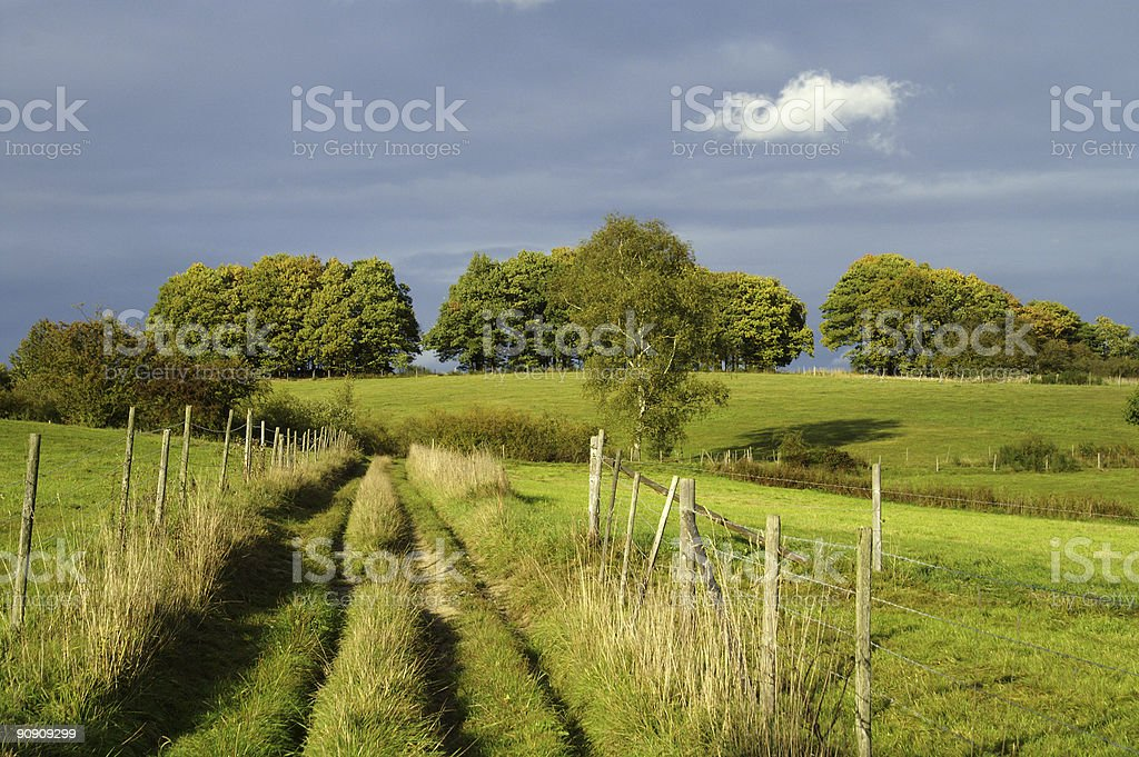 Landscape in front of a thunderstorm royalty-free stock photo