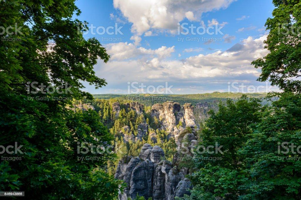Landscape in Germany, Saxony. Saxon Switzerland national park stock photo