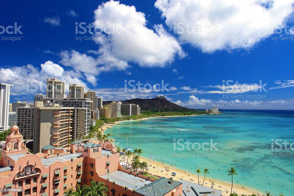 Landscape in Hawaii Resort stock photo