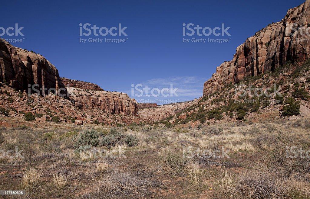 Landscape in Indian Creek Recreation Area, Utah stock photo