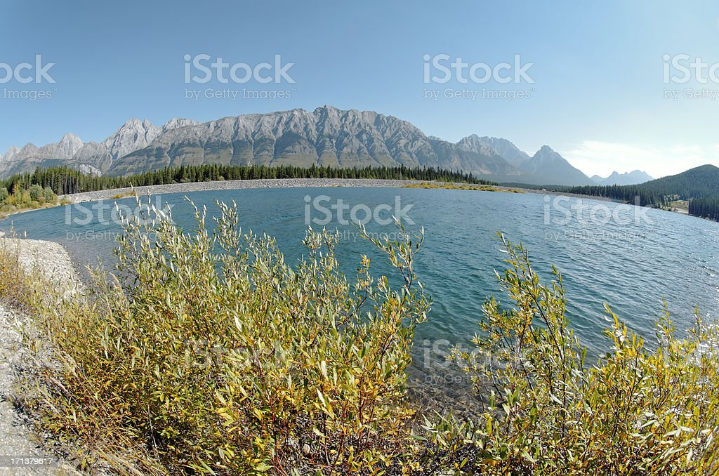 Landscape in Kananaskis , Alberta royalty-free stock photo