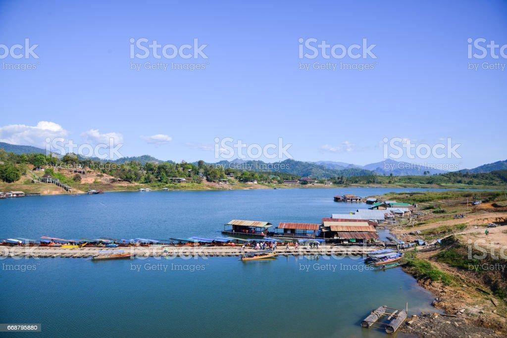 landscape in Kanchanaburi Thailand. stock photo