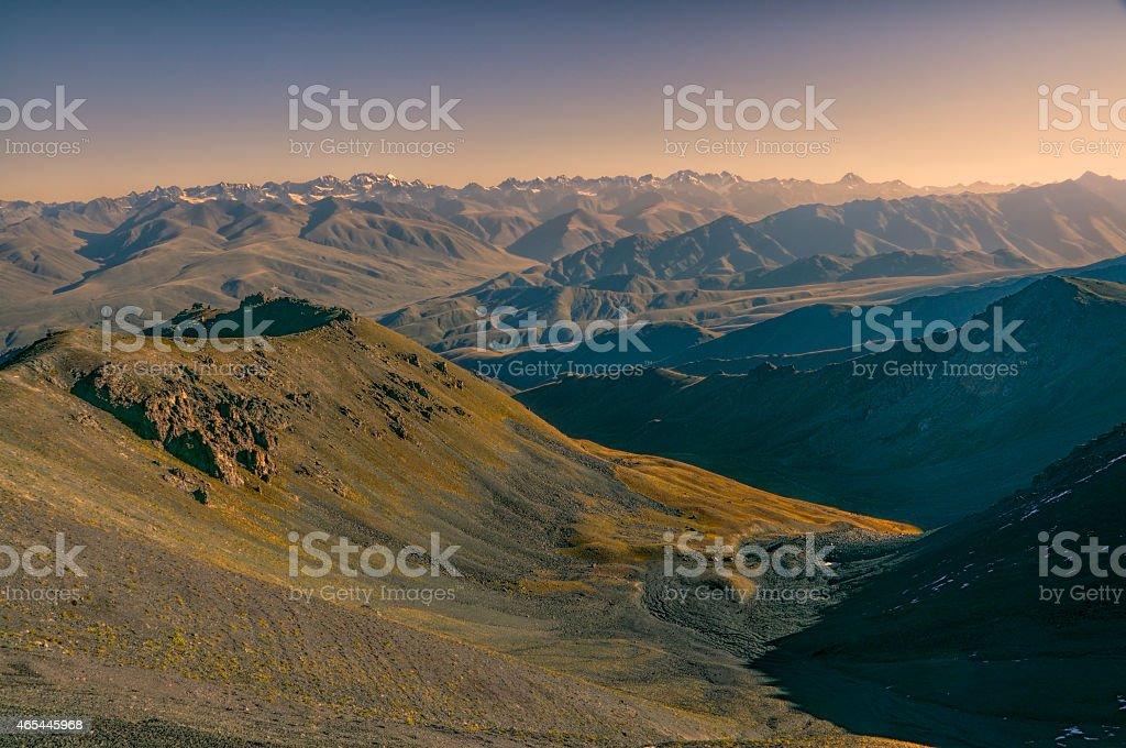 Landscape in Kyrgyzstan stock photo