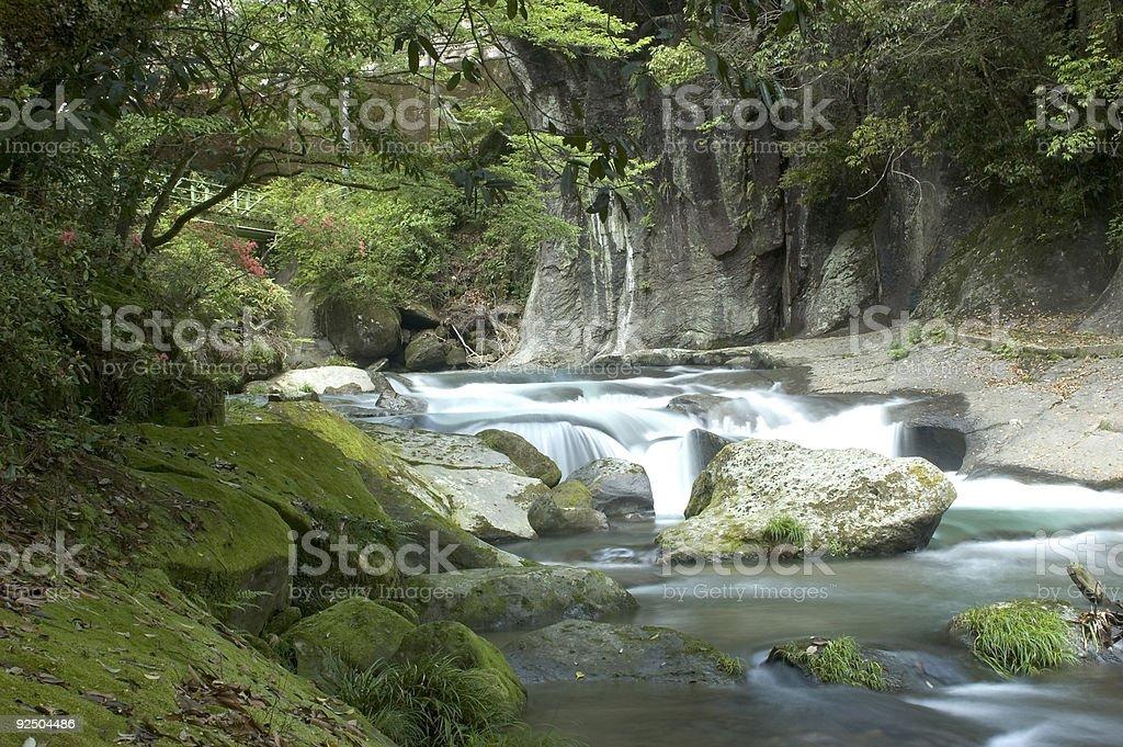 Landscape in Kyushu royalty-free stock photo
