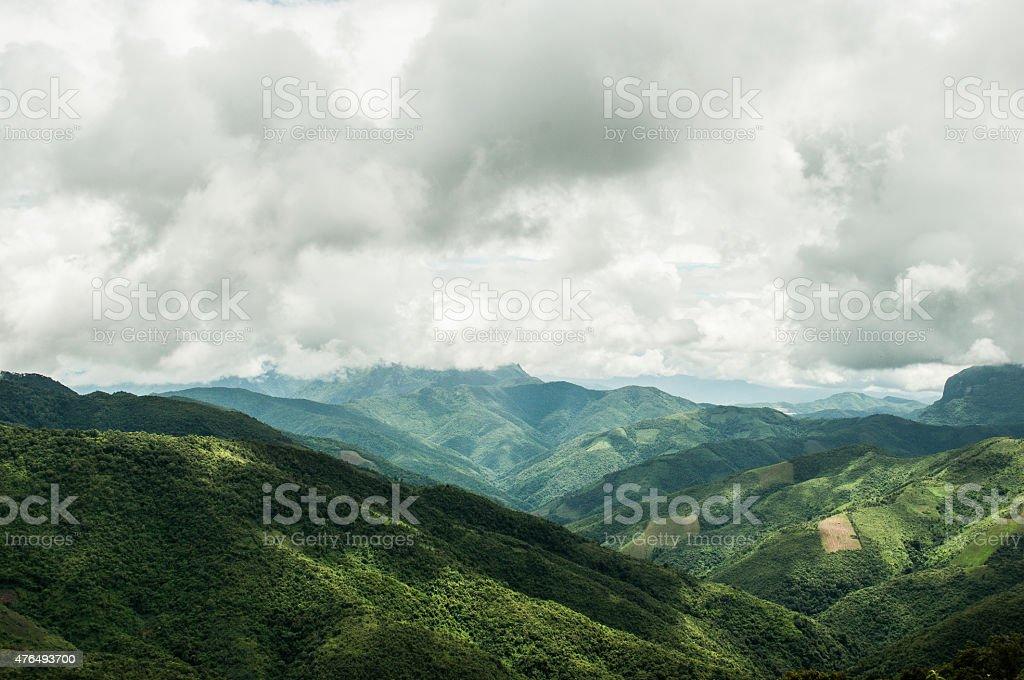 Landscape in Laos 2 stock photo
