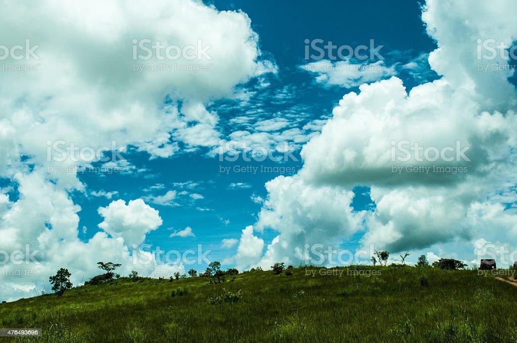 Landscape in Laos stock photo