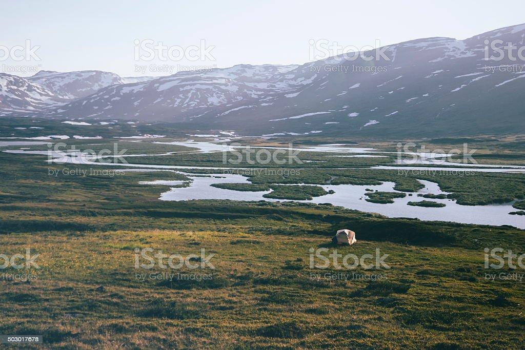 Landscape in Lapland, Sweden stock photo