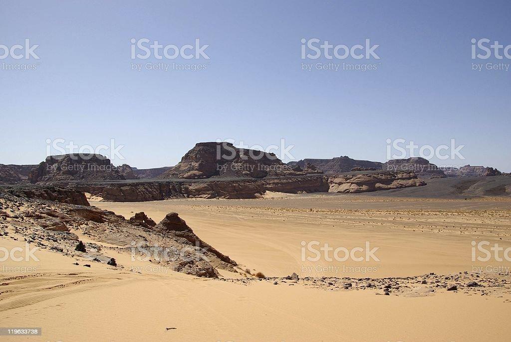 Landscape in Libya royalty-free stock photo