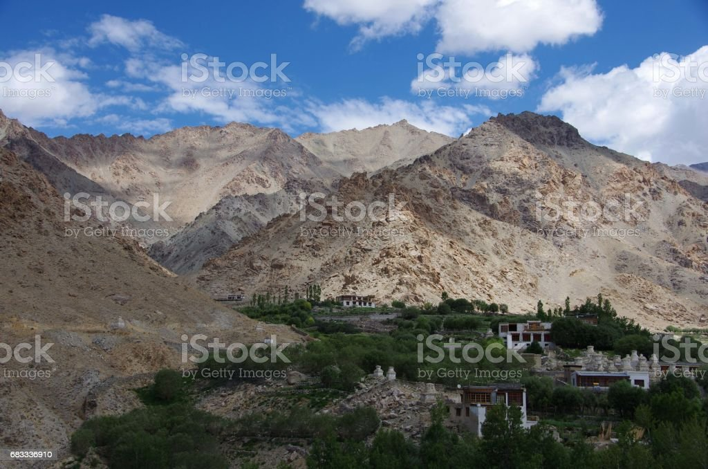 Landscape in Likir in Ladakh, India royalty-free stock photo