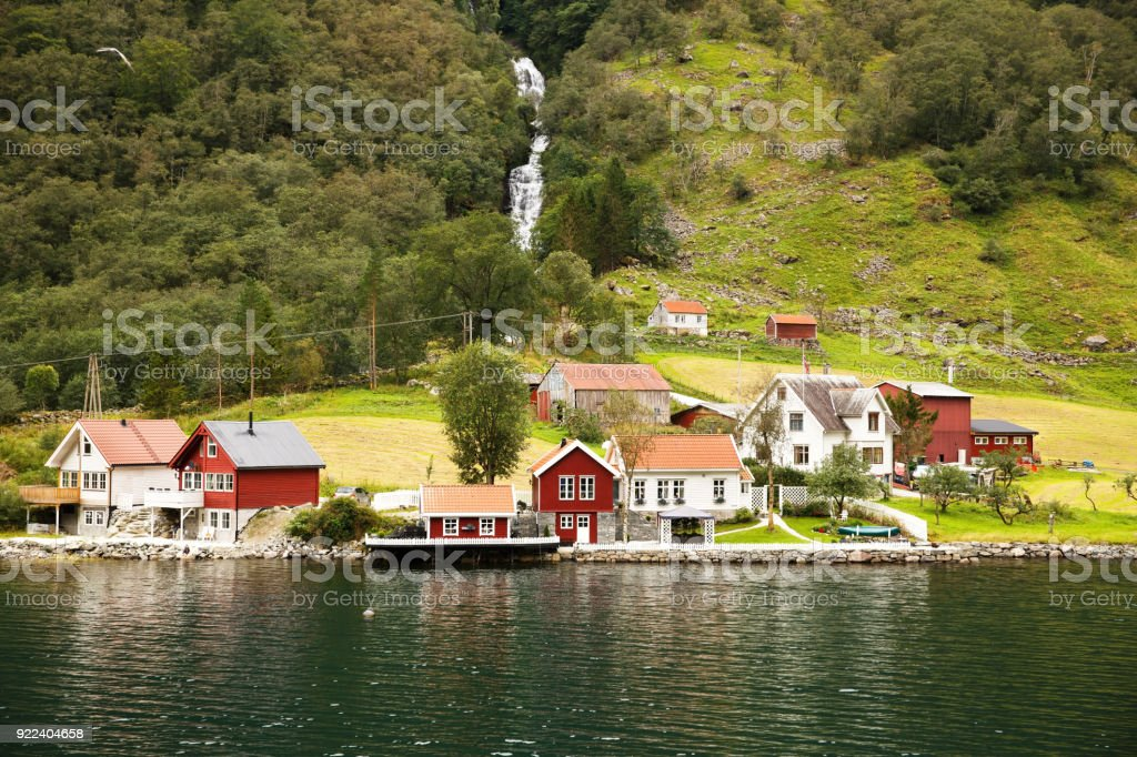 Landscape in Norway stock photo