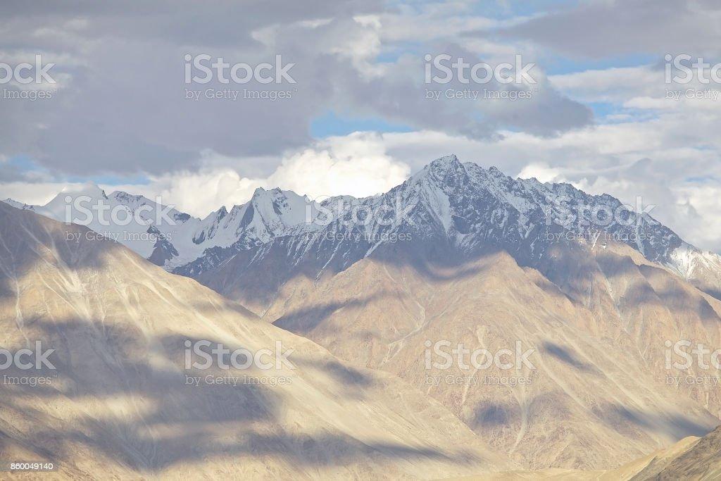 Landscape in Nubra Valley, Ladakh, India stock photo
