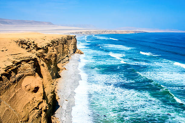 Landscape in Paracas National Park Reserve, Peru Landscape in Paracas National Park Reserve, Pisco, Peru pisco peru stock pictures, royalty-free photos & images