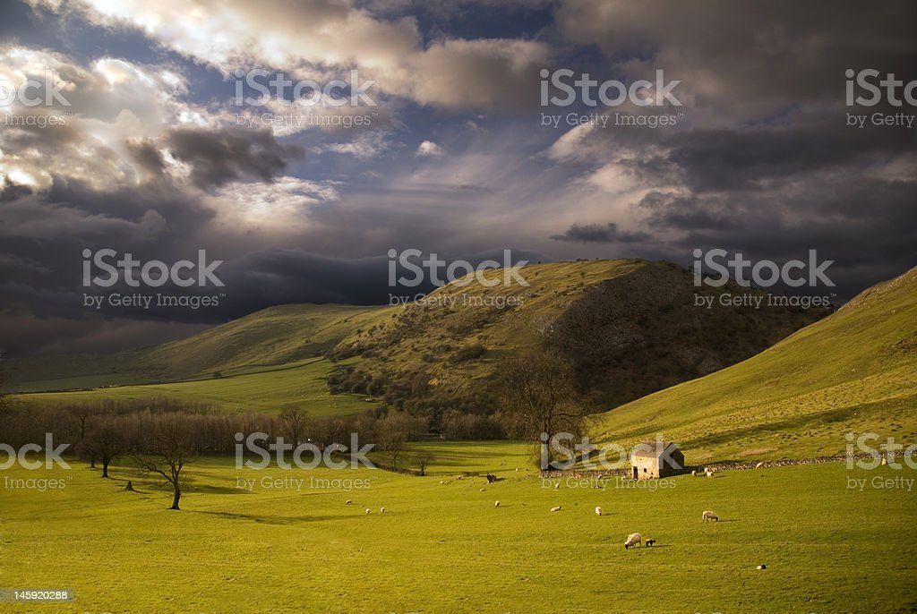 Landscape in Peak District. England stock photo