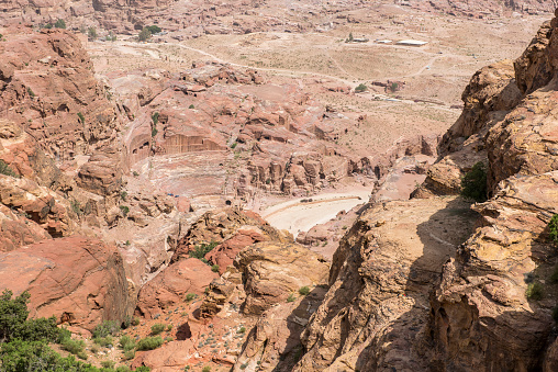 Landscape In Petra Jordan Stock Photo - Download Image Now