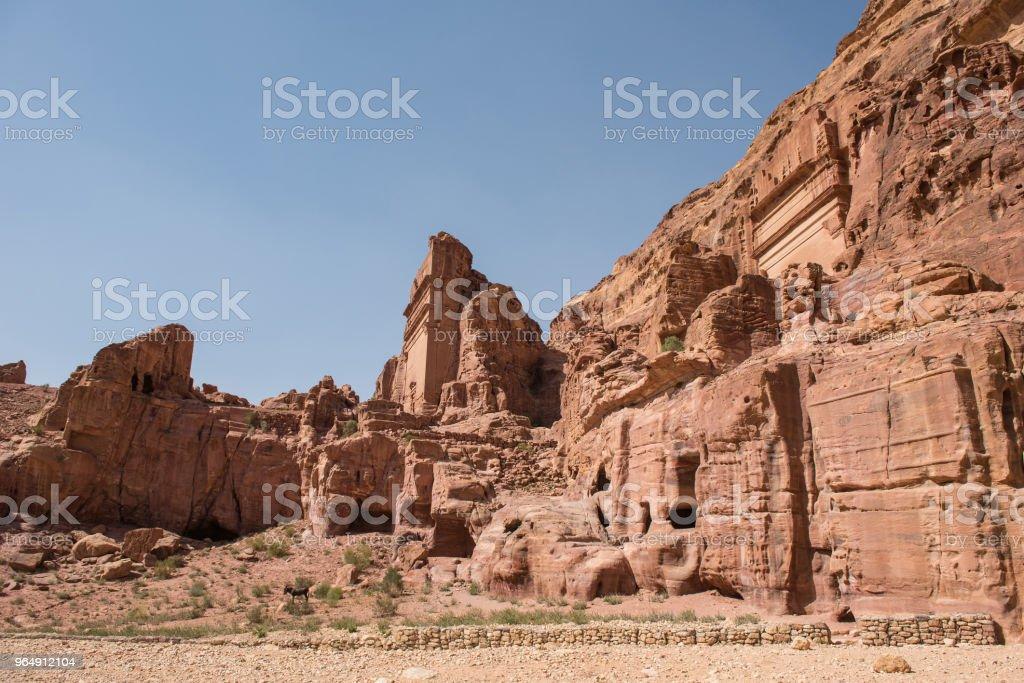 Landscape in Petra, Jordan royalty-free stock photo