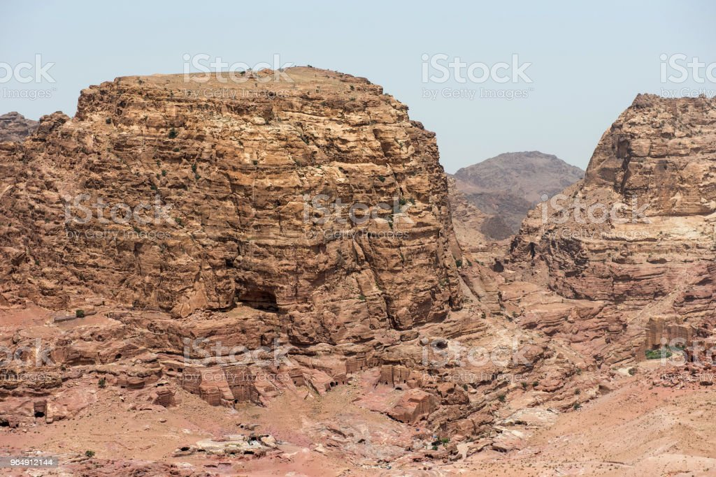 Landscape in Petra, Jordan royalty-free stock photo