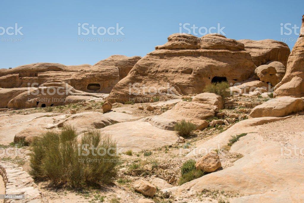 Landscape in Petra, Jordan - Royalty-free Ancient Stock Photo