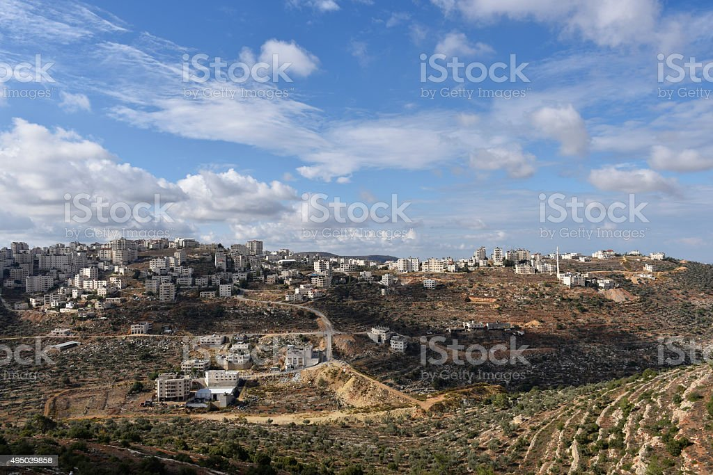 Landscape in Ramallah, Palestine stock photo