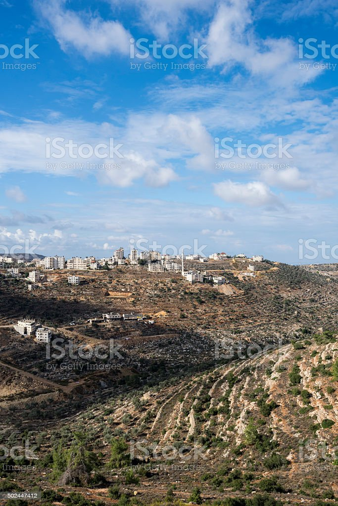 Landscape in Ramallah, West Bank stock photo