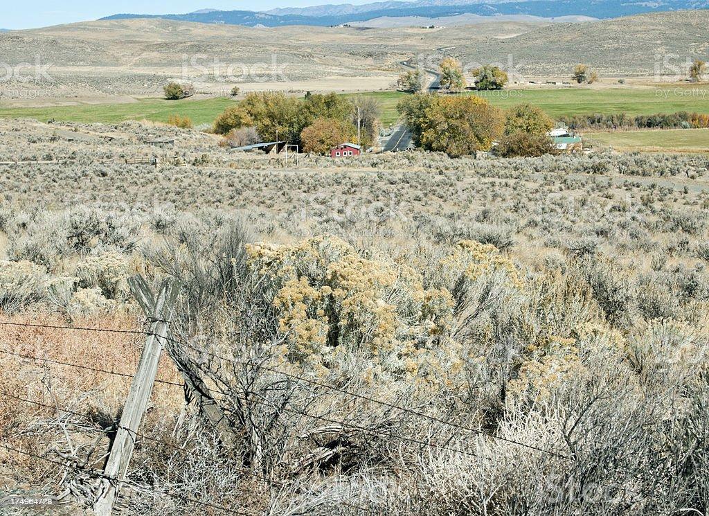 Landscape in rural northeastern Oregon royalty-free stock photo