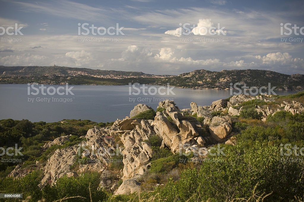 Landscape in Sardina royalty-free stock photo