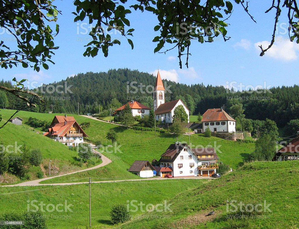 Landscape in Schwarzwald stock photo