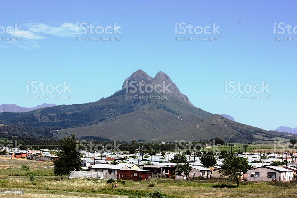 Landscape in South Africa near Cape Town stock photo
