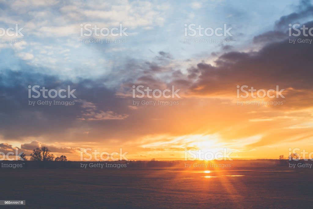 Landscape in sunset royalty-free stock photo