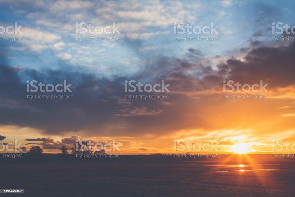 Landscape in sunset zbiór zdjęć royalty-free