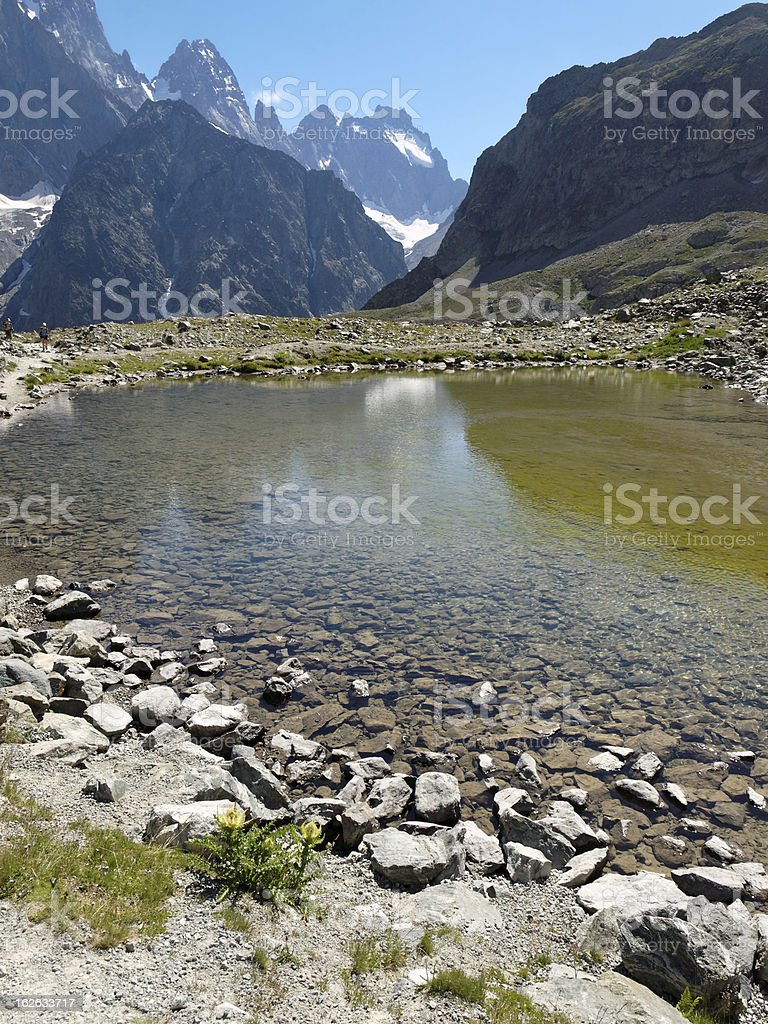 landscape in the Alpes Ecrins France stock photo