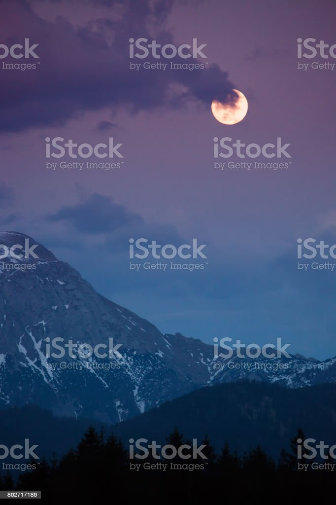 landscape in the Alps stock photo
