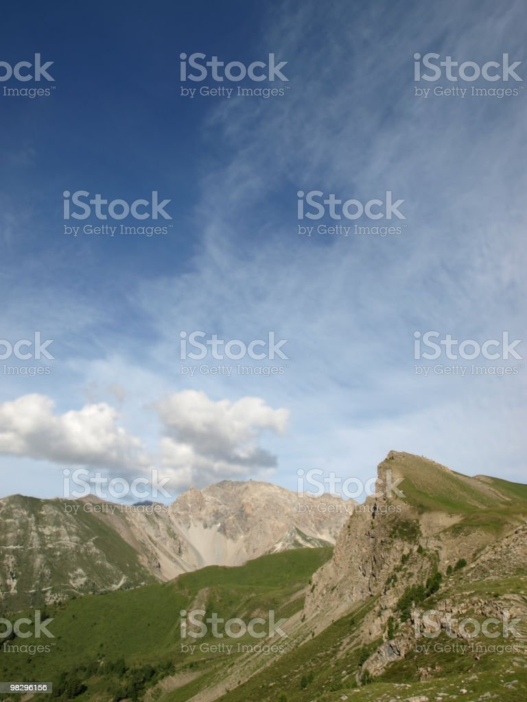 landscape in the Alps royalty-free stock photo