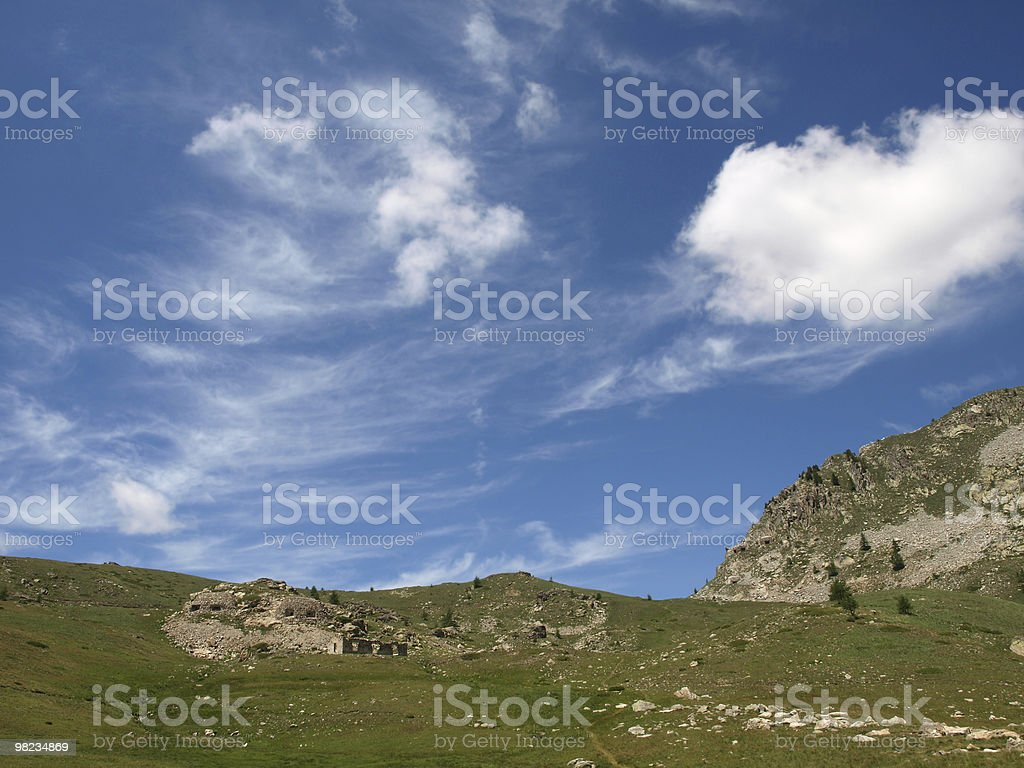 landscape in the Alps with blue sky royalty-free stock photo