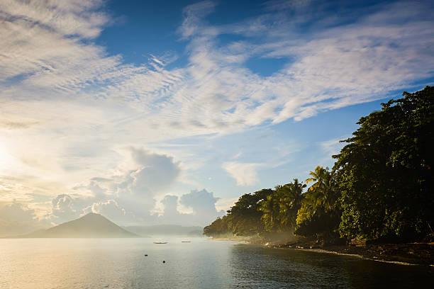 Landscape in the Banda Islands stock photo