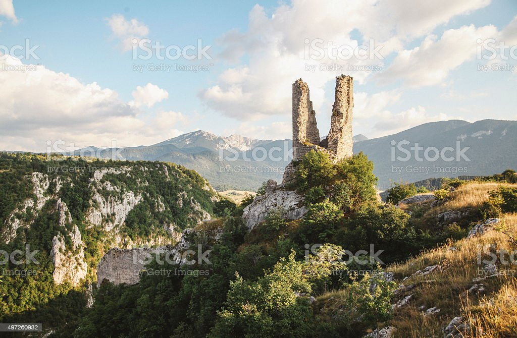 Landscape in the Dinaric Alps stock photo