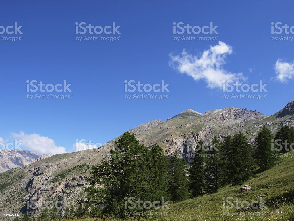 landscape in the French Alps royalty-free stock photo