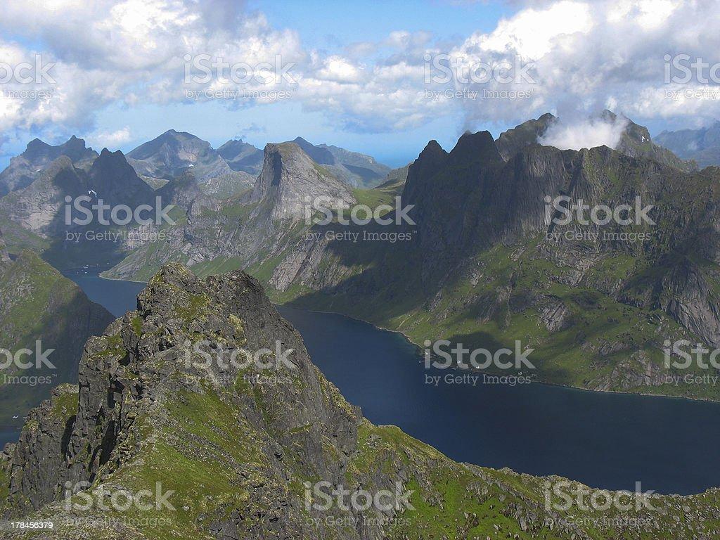 Landscape in the Lofoten islands royalty-free stock photo