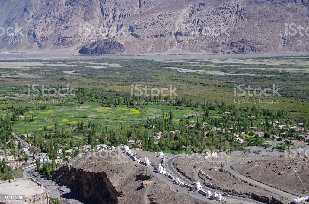 Landscape in the Nubra valley in Ladakh, India stock photo