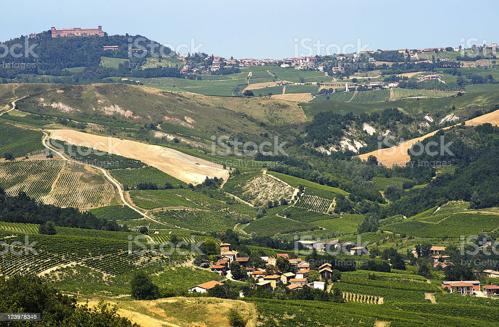 Landscape in the Oltrepo Pavese (Italy) royalty-free stock photo