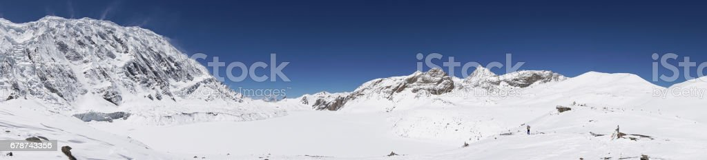 Landscape in Tilicho lake, Annapurna circuit,trekking in Nepal royalty-free stock photo