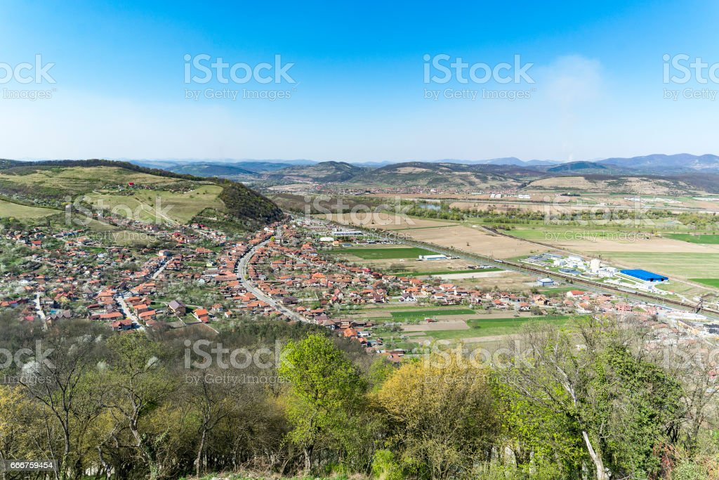 Landscape in Transylvania stock photo