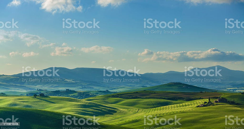 Landscape in Tuscany stock photo